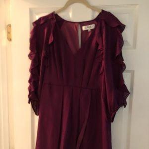Tibi ruffle sleeved v-neck mini dress